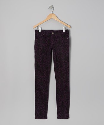 Purple Passion Jacquard Skinny Jeans