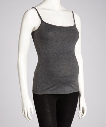 Charcoal Heather Maternity Camisole - Women
