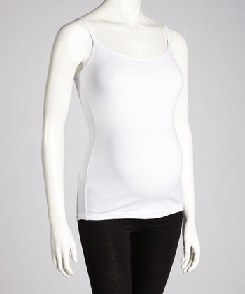 White Maternity Camisole - Women