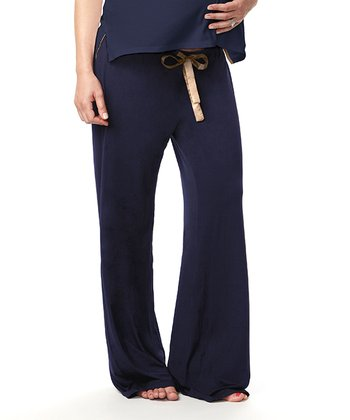 Navy My Darling Maternity Lounge Pants - Women
