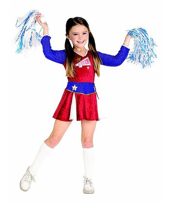 Red & Blue Cheerleader Dress-Up Set - Girls