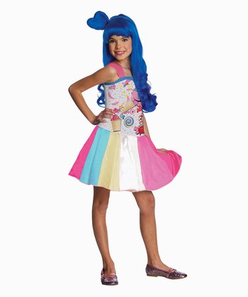 Pink & Aqua Candy Girl Dress - Girls