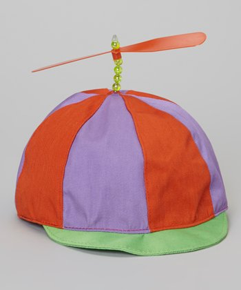 Red & Purple Propeller Hat