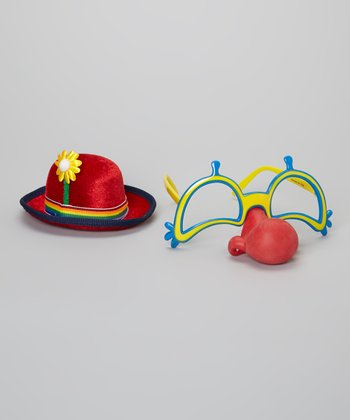 Clown Nose Glasses & Hat