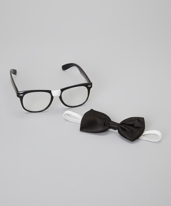 Black Nerd Glasses & Bowtie