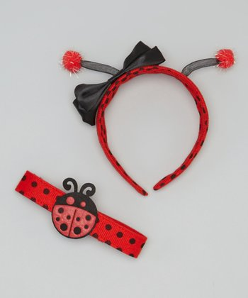 Red Ladybug Headband & Chocker