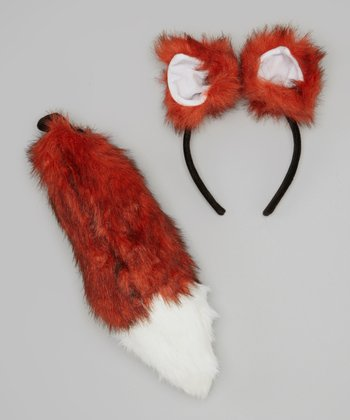 Brown Fox Ear Headband & Tail