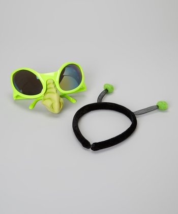 Green Alien Sunglasses & Headband