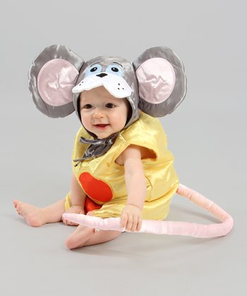 Yellow & Gray Mouse in Cheese Dress-Up Set
