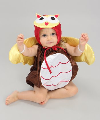 Brown & Yellow Owl Dress-Up Set