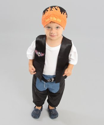 Black & Orange Biker Dude Dress-Up Set