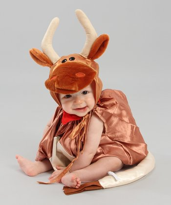 Brown & White Steer Dress-Up Set