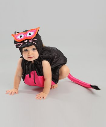 Black & Pink Kitty Cat Dress-Up Set