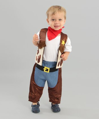 Brown & Blue Li'l Cowboy Dress-Up Set