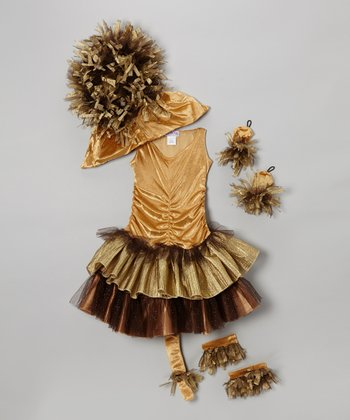 Gold Lucy the Lion Dress-Up Outfit - Girls