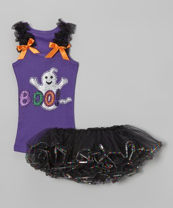 Purple 'Boo' Tank & Tutu - Infant & Toddler