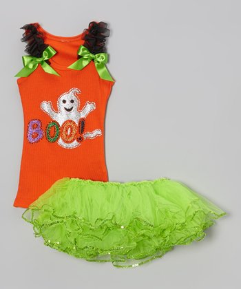Orange 'Boo' Tank & Tutu - Infant & Toddler