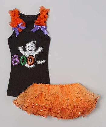 Black 'Boo' Tank & Tutu - Infant & Toddler