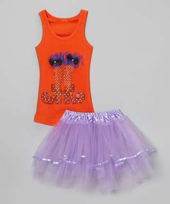 Orange Witch Legs Tank & Tutu - Toddler & Girls