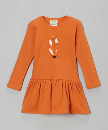 Orange Spider Initial Dress - Infant, Toddler & Girls