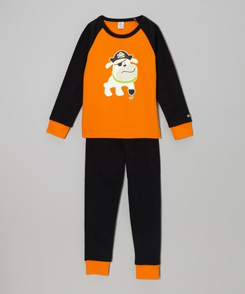 Orange & Black Pirate Puppy Top & Pants - Infant, Toddler & Kids