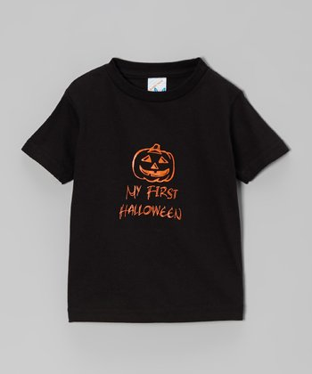 Black 'My First Halloween' Tee - Infant & Toddler