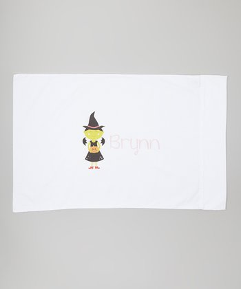 White Personalized Wicked Witch Pillowcase