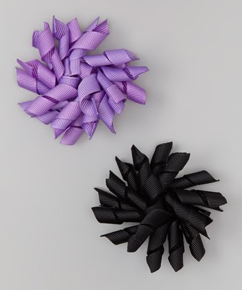 Purple & Black Korker Clip Set