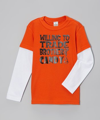 Orange 'Trade Brother' Layered Tee - Infant, Toddler & Kids