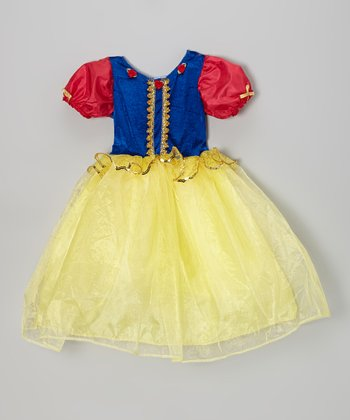 Yellow & Red Dazzle Dress - Toddler & Girls