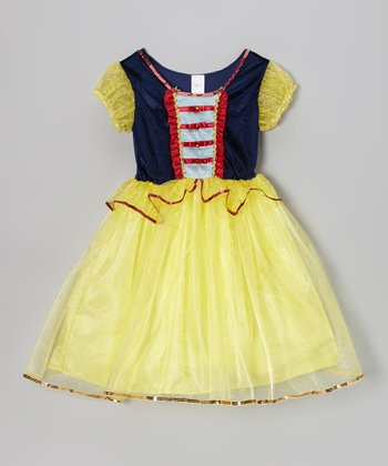 Yellow & Red Princess Dress - Girls