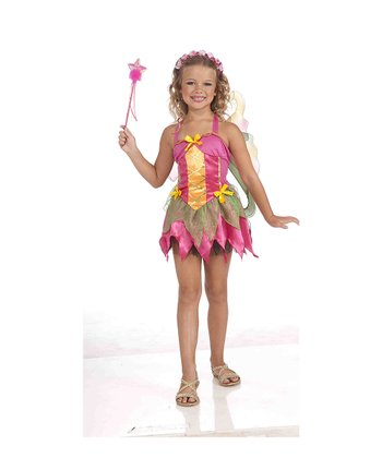 Pink Garden Fairy Dress-Up Set - Kids