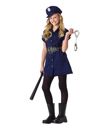 Navy Blue In The Line of Duty Dress-Up Set - Girls