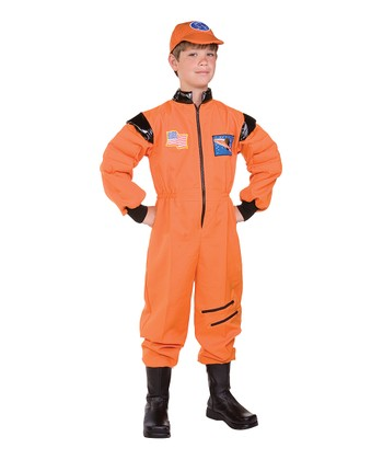 Orange Astro Hero Dress-Up Outfit - Kids
