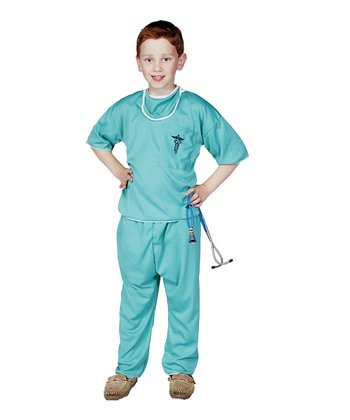 Green E.R. Doctor Dress-Up Outfit - Kids