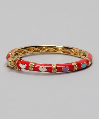 Red & Gold Heart Bangle