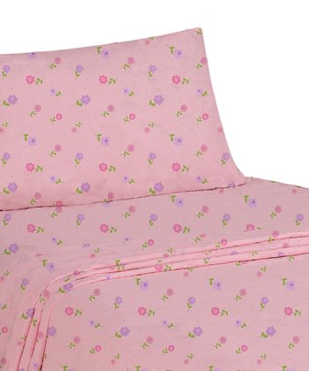 Dotted Flowers Sheet Set