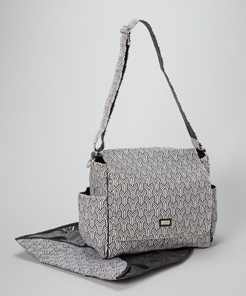 Black & White Koi Diaper Bag