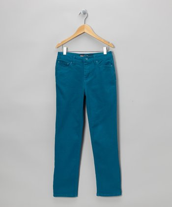 Teal Straight-Leg Jeans - Boys