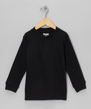 Charcoal Henley - Boys