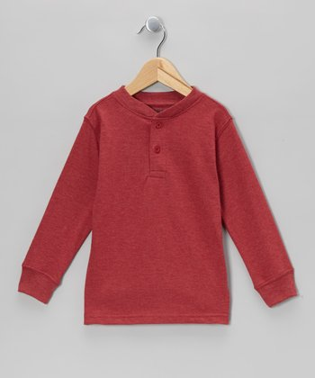Red Henley - Boys