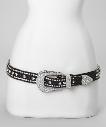 Black Jewel River Snakeskin Belt