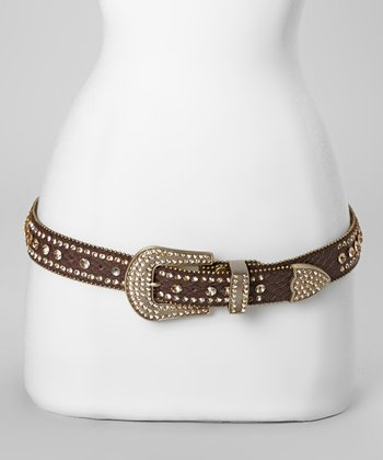 Brown Jewel River Snakeskin Belt