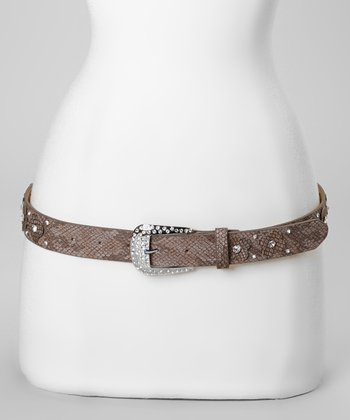 Brown Flower Patch Belt