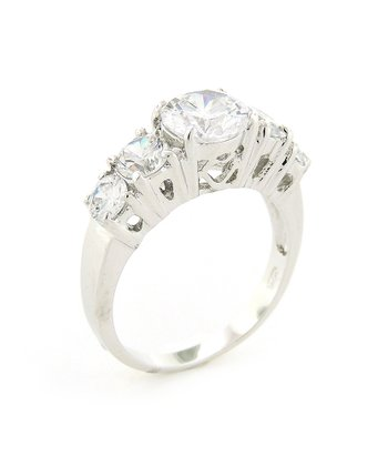 Sterling Silver Sparkle Five-Stone Ring