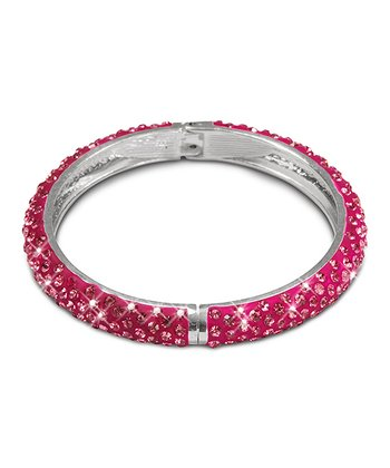 Fuchsia Crystal Hinge Bangle