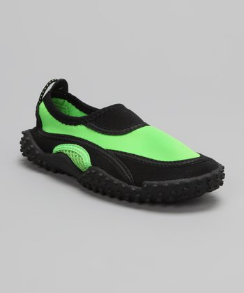 Green Slip-On Water Shoe