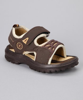 Brown Open-Toe Sandal