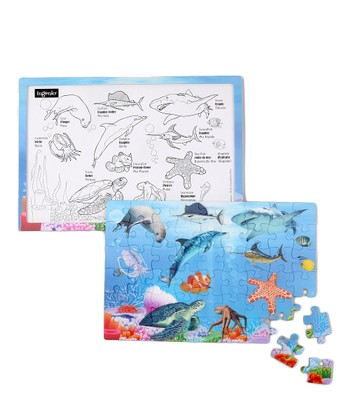 Aquarium Real 3-D Lenticular Puzzle Set