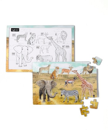 Zoo Real 3-D Lenticular Puzzle Set